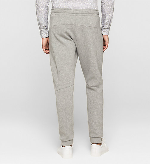 Geperst jersey joggingbroek - MEDIUM GREY - CALVIN KLEIN  - detail image 1
