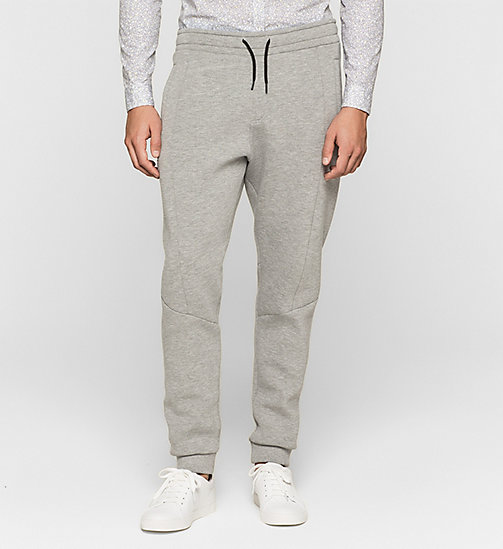 Geperst jersey joggingbroek - MEDIUM GREY - CALVIN KLEIN  - main image