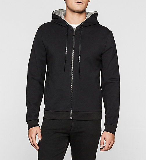 CALVINKLEIN Bonded Jersey Hoodie - PERFECT BLACK - CALVIN KLEIN OUTERWEAR - main image