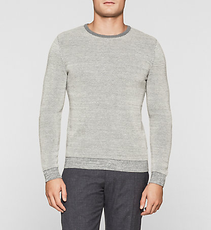 CALVIN KLEIN Wool Cotton Blend Sweater K10K100668053