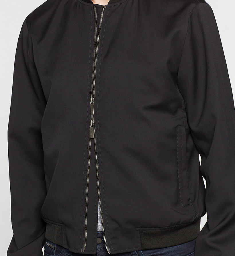 CALVINKLEIN Wool Bomber Jacket - PERFECT BLACK - CALVIN KLEIN OUTERWEAR - detail image 2