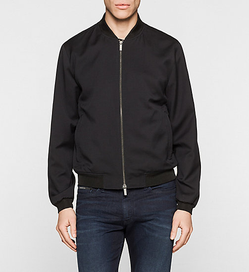 CALVINKLEIN Wool Bomber Jacket - PERFECT BLACK - CALVIN KLEIN OUTERWEAR - main image