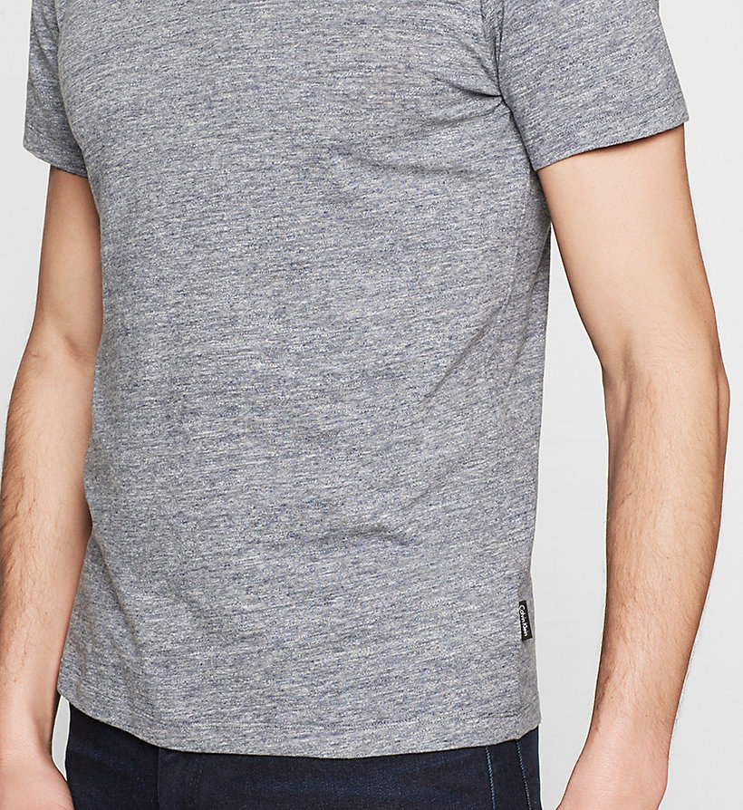 CALVINKLEIN Fitted Heathered T-shirt - INK BLUE 19-3933 - CALVIN KLEIN T-SHIRTS - detail image 2