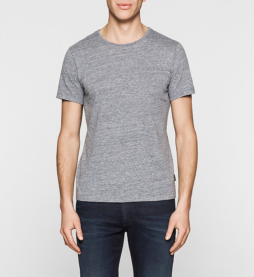 CALVINKLEIN Fitted Heathered T-shirt - INK BLUE 19-3933 - CALVIN KLEIN T-SHIRTS - main image
