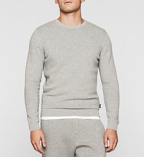 Structured Knit Sweater - MORNING DAWN HEATHER - CALVIN KLEIN JUMPERS - main image