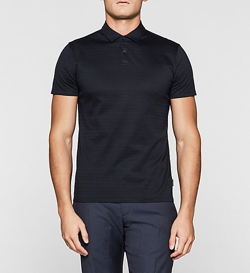 Fitted ottoman polo - TRUE NAVY - CALVIN KLEIN POLO'S - main image