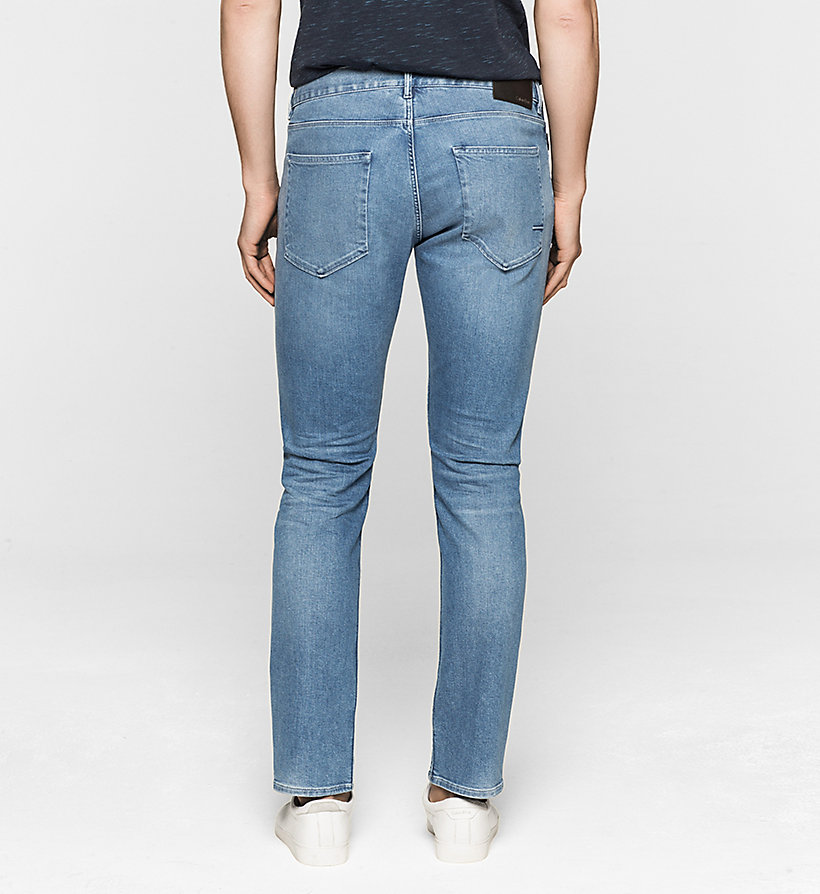 CALVINKLEIN Slim Straight Jeans - LIGHT BLUE - CALVIN KLEIN CLOTHES - detail image 1