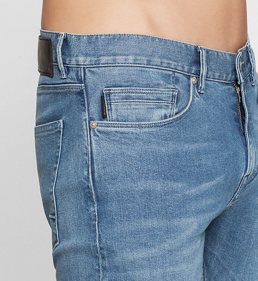 CALVINKLEIN Slim Straight Jeans - LIGHT BLUE - CALVIN KLEIN CLOTHES - detail image 2