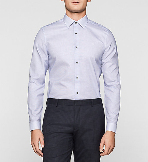 Fitted Check Shirt - COBALT BLUE - CALVIN KLEIN SHIRTS - main image