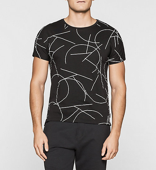 Fitted Logo T-shirt - PERFECT BLACK - CALVIN KLEIN T-SHIRTS - main image