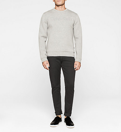 Geperst jersey sweatshirt - MEDIUM GREY - CALVIN KLEIN  - detail image 1