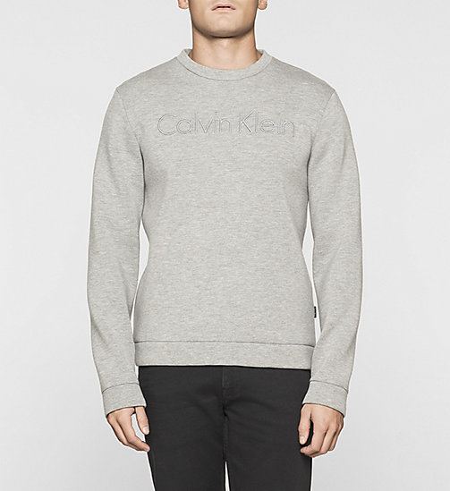 Geperst jersey sweatshirt - MEDIUM GREY - CALVIN KLEIN  - main image