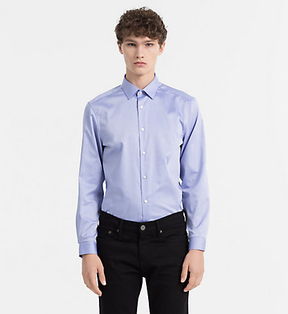 CALVIN KLEIN Fitted Cotton Twill Shirt K10K100730639