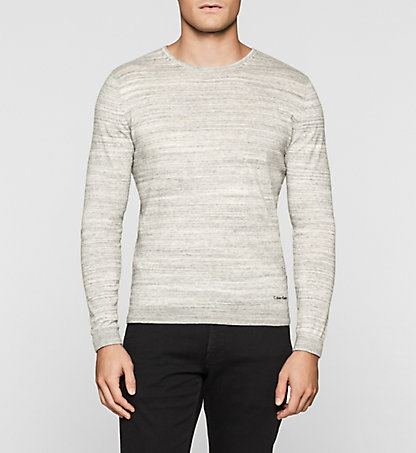 CALVIN KLEIN Heathered Knit Sweater K10K100743053