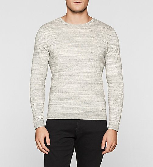 CKJEANS Heathered Knit Sweater - MORNING DAWN HEATHER - CALVIN KLEIN JUMPERS - main image