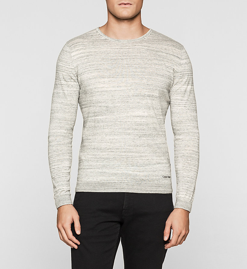 CALVINKLEIN Heathered Knit Sweater - COBALT HEATHER - CALVIN KLEIN JUMPERS - main image