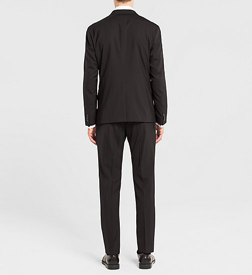 Fitted Techno Wool Suit - PERFECT BLACK - CALVIN KLEIN SUITS - detail image 1