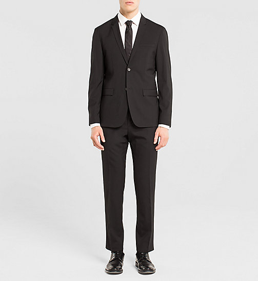 Fitted Techno Wool Suit - PERFECT BLACK - CALVIN KLEIN SUITS - main image