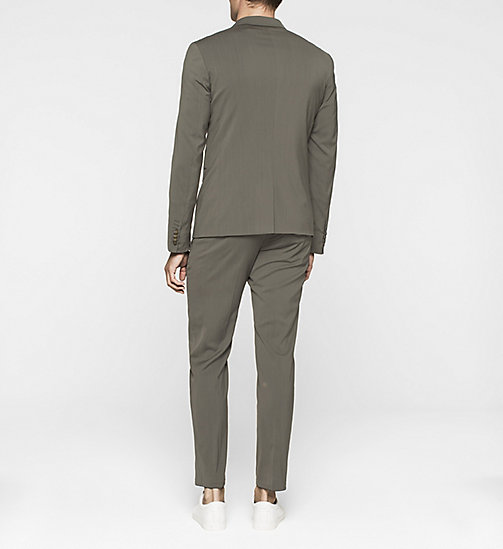 Fitted Techno Wool Suit - DARK OLIVE - CALVIN KLEIN  - detail image 1