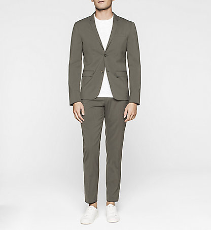 CALVIN KLEIN Fitted Techno Wool Suit K10K100765329