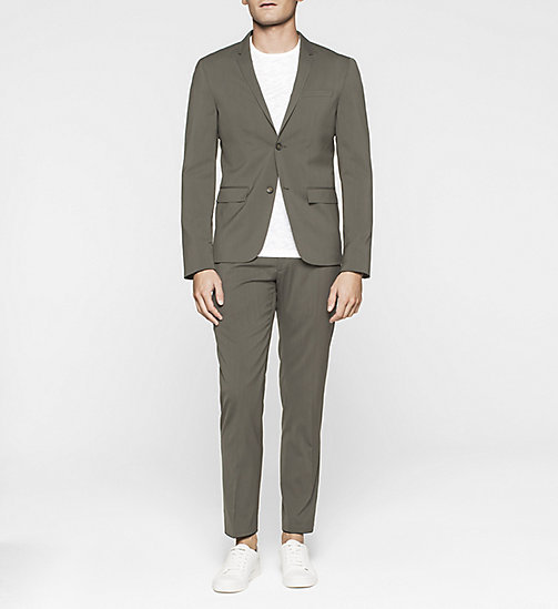 Fitted Techno Wool Suit - DARK OLIVE - CALVIN KLEIN SUITS - main image