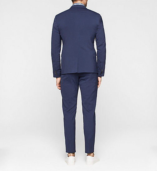 Fitted Techno Wool Suit - INK BLUE 19-3933 - CALVIN KLEIN  - detail image 1