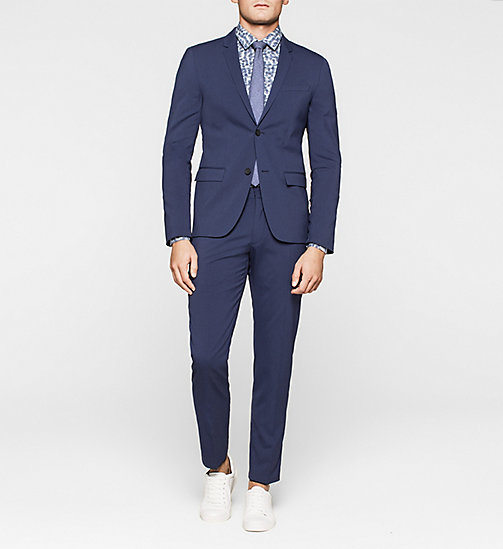 CALVINKLEIN Fitted Techno Wool Suit - INK BLUE 19-3933 - CALVIN KLEIN SUITS - main image