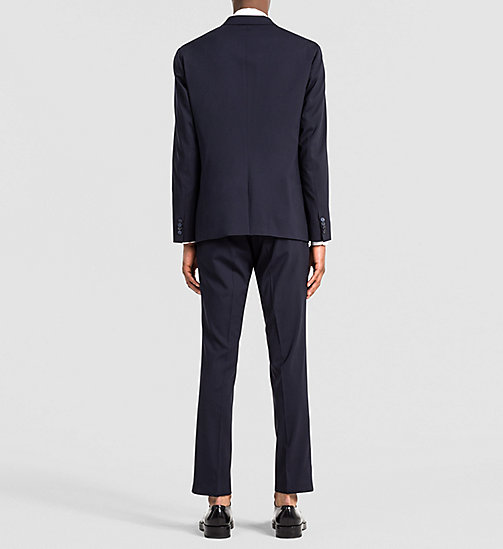 Fitted Techno Wool Suit - TRUE NAVY - CALVIN KLEIN SUITS - detail image 1