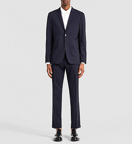 Fitted Techno Wool Suit - TRUE NAVY - CALVIN KLEIN SUITS - main image