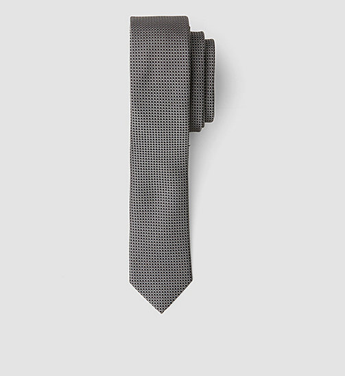 Extra Slim Silk Tie - ASPHALT - CALVIN KLEIN SHOES & ACCESSORIES - main image