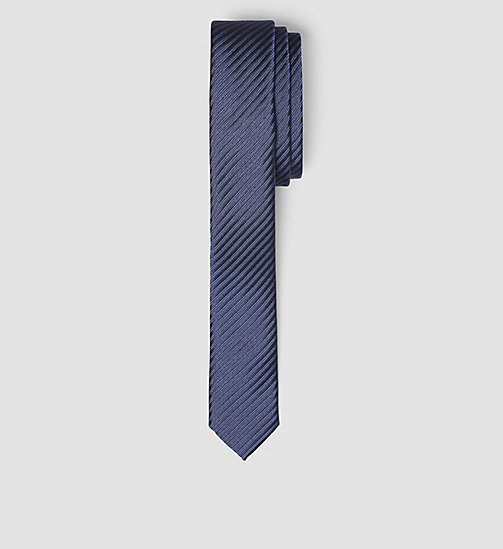 Extra Slim Silk Tie - TRUE NAVY - CALVIN KLEIN SHOES & ACCESSORIES - main image