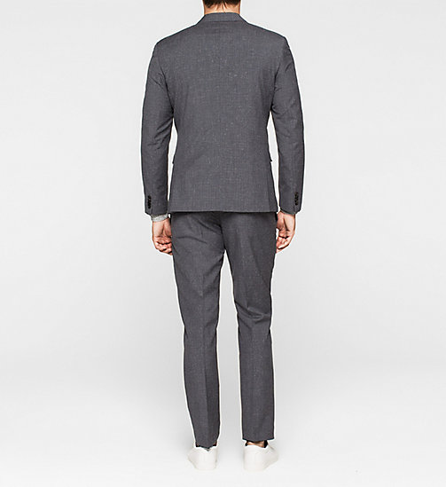 Fitted Textured Wool Suit - MORNING DAWN - CALVIN KLEIN SUITS - detail image 1