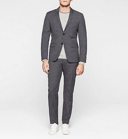 CALVIN KLEIN Fitted Textured Wool Suit K10K100775494