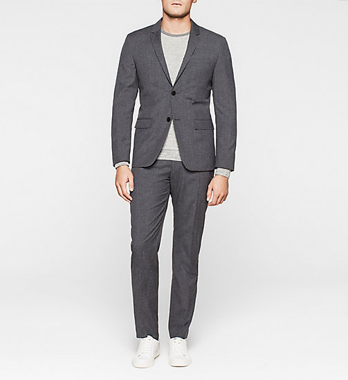 Fitted Textured Wool Suit - MORNING DAWN - CALVIN KLEIN  - main image