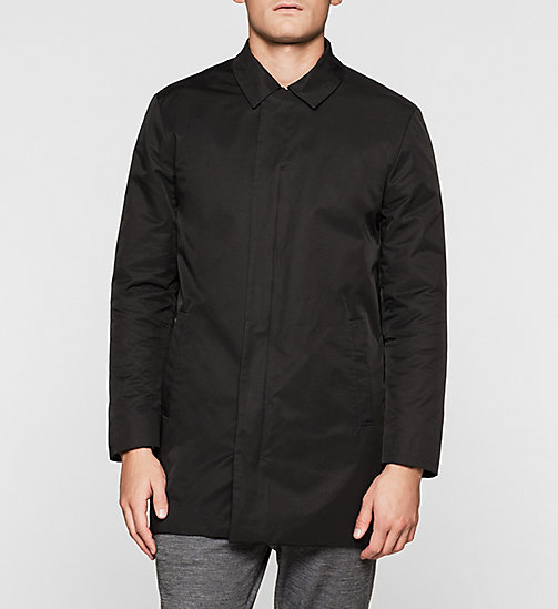 CALVINKLEIN Techno Cotton Blend Coat - PERFECT BLACK - CALVIN KLEIN  - main image