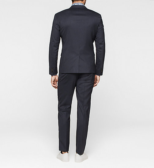 Slim Wool Check Suit - INK BLUE 19-3933 - CALVIN KLEIN SUITS - detail image 1