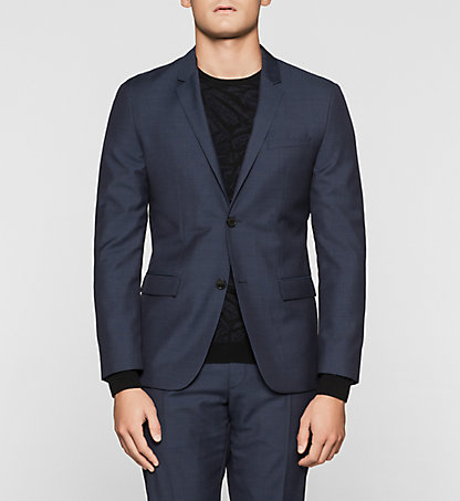 CALVIN KLEIN Fitted Textured Wool Blazer K10K100810407
