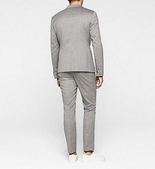 Slim Textured Wool Suit - MID GREY - CALVIN KLEIN  - detail image 1