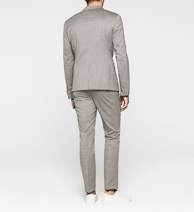 CALVINKLEIN Slim Textured Wool Suit - MID GREY - CALVIN KLEIN CLOTHES - detail image 1