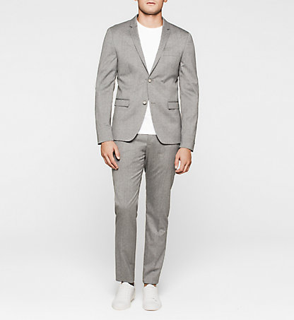 CALVIN KLEIN Slim Textured Wool Suit K10K100811039