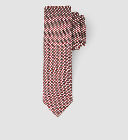 Slim Silk Tie - GRENADINE - CALVIN KLEIN SHOES & ACCESSORIES - main image