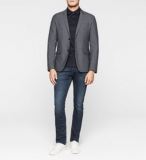 Fitted Wool Blend Blazer - TRUE NAVY - CALVIN KLEIN BLAZERS - detail image 1