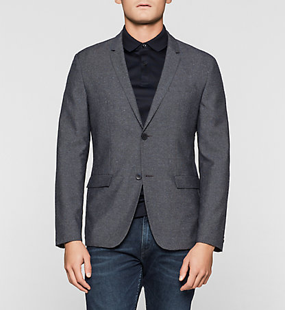 CALVIN KLEIN Fitted Wool Blend Blazer K10K100825478