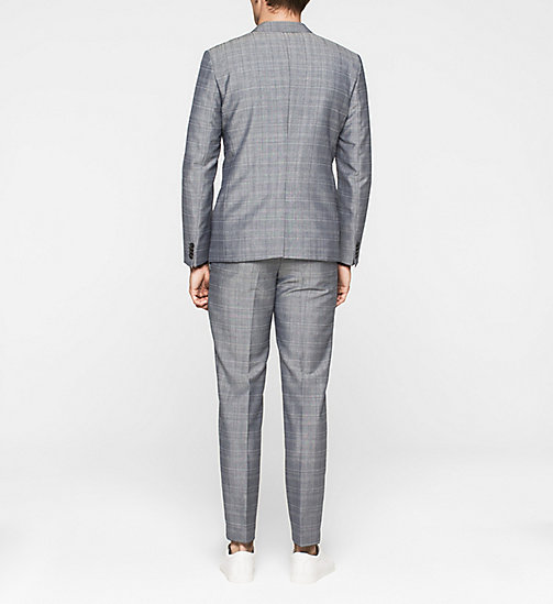 Fitted Mohair Wool Suit - CASUAL BLUE - CALVIN KLEIN  - detail image 1