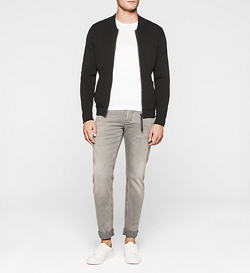 CALVINKLEIN Mesh Baseball Jacket - PERFECT BLACK - CALVIN KLEIN JUMPERS - detail image 1