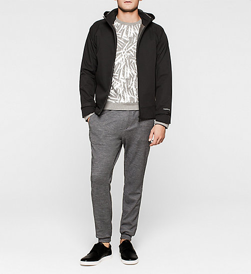 Leaf Printed Sweatshirt - MEDIUM GREY - CALVIN KLEIN  - detail image 1