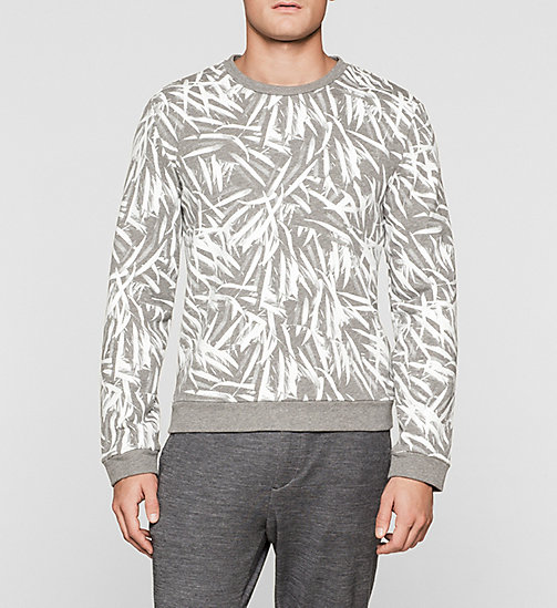 CALVINKLEIN Leaf Printed Sweatshirt - MEDIUM GREY - CALVIN KLEIN URBAN VOYAGER - main image
