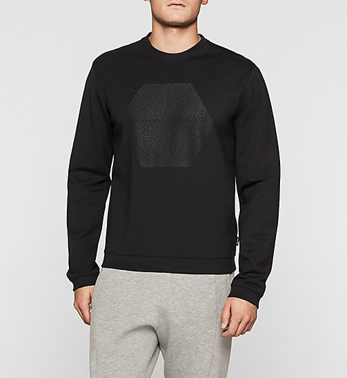 Bonded Jersey Sweatshirt - PERFECT BLACK - CALVIN KLEIN  - main image