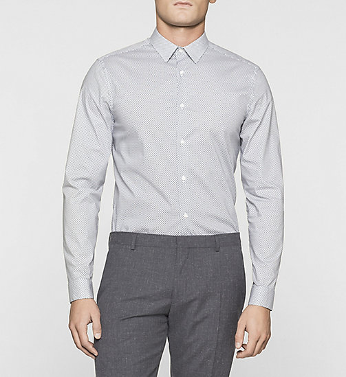 Slim Micro Print Shirt - TRUE NAVY - CALVIN KLEIN SHIRTS - main image