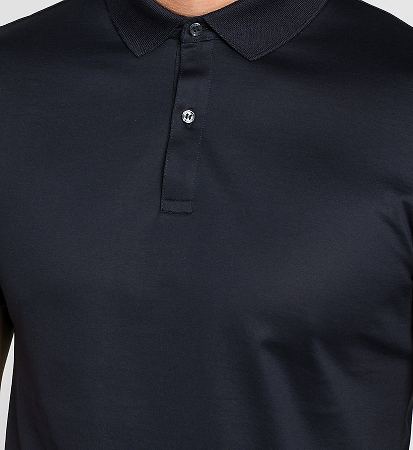 CALVINKLEIN Fitted Polo - TRUE NAVY - CALVIN KLEIN POLO SHIRTS - detail image 2